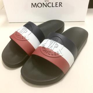 MONCLER - 新品未使用!送料込み★MONCLER★3Dロゴマークラバーサンダル