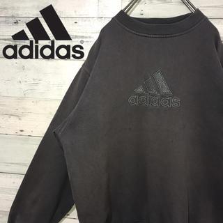 アディダス(adidas)の【激レア】アディダス☆刺繍ビッグロゴ アースカラー スウェット 90s(スウェット)