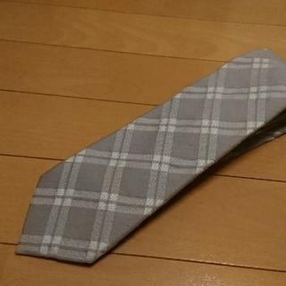 ビームス(BEAMS)の美品ビームス正規品   ライトグレー色系   チェック柄ネクタイ(ネクタイ)