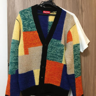Supreme -  supreme patchwork  mohair cardigan