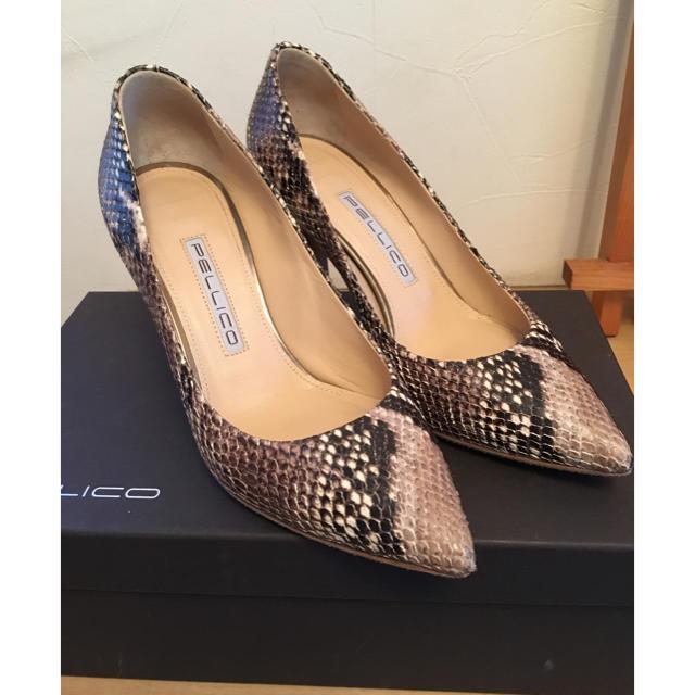 PELLICO(ペリーコ)のペリーコ ヒールパンプス パイソン柄 35 レディースの靴/シューズ(ハイヒール/パンプス)の商品写真