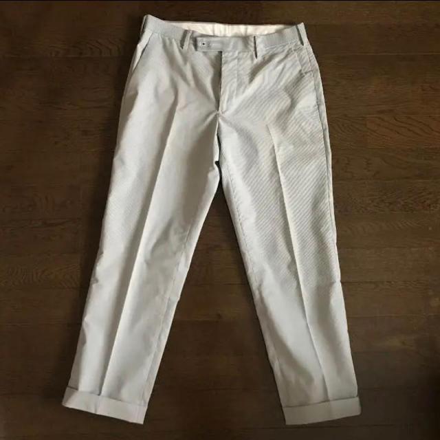 UNIQLO(ユニクロ)のUNIQLO【送料込み】ストライプ感動パンツ アンクル丈 ウエスト76cm メンズのパンツ(スラックス)の商品写真