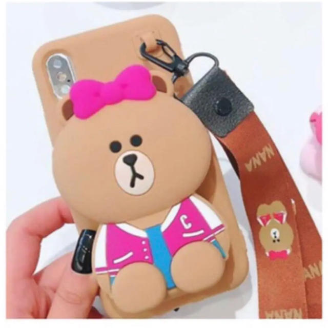 iPhone XR Phone Case Line Bear コイン ケースの通販 by chrissatinee's shop|ラクマ