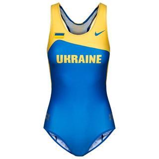 女子陸上ユニフォーム ウクライナ代表モデル レオタードタイプ