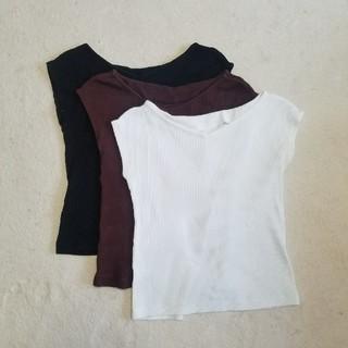 ジーユー(GU)のGU 2wayネックフレンチスリーブT(Tシャツ(半袖/袖なし))
