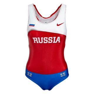 ナイキ(NIKE)の女子陸上ユニフォーム ロシア代表モデル レオタードタイプ(陸上競技)