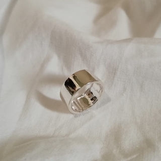 silver 925 wide ring * 8mm(リング(指輪))