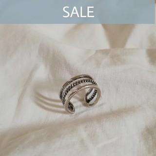 【 数量限定SALE 】silver 925 triple ring *(リング(指輪))