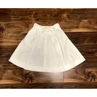 ラルフローレン(Ralph Lauren)のラルフローレン スカート リボン ホワイト フレアー ラルフ POLO (ひざ丈スカート)