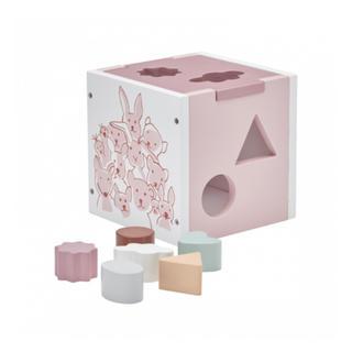 イケア(IKEA)のkidsconcept 型はめボックス ピンク キッズコンセプト(知育玩具)