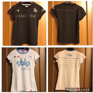 ディアドラ(DIADORA)のディアドラ テニス レディースシャツ 2枚セット SとM(ウェア)