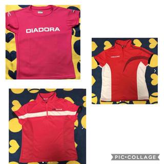 ディアドラ(DIADORA)のディアドラ レディース テニスシャツ SとM 3枚セット(ウェア)