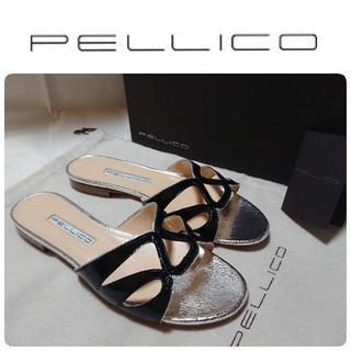 ペリーコ(PELLICO)の新品 PELLICO ペリーコ フラット サンダル 36 定価49680円(サンダル)