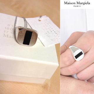 マルタンマルジェラ(Maison Martin Margiela)の新品■S■マルジェラ18ss■オニキス シルバー リング■指輪■5868(リング(指輪))