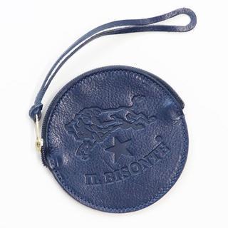 イルビゾンテ(IL BISONTE)の新品 正規品 イルビゾンテ コインケース ネイビー ラウンド 小銭入れ ポーチ(ポーチ)