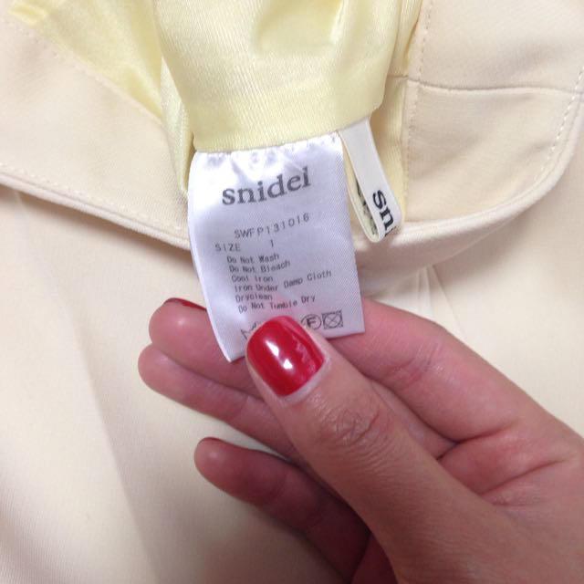 snidel(スナイデル)のスナイデル  ベージュスラックス レディースのパンツ(その他)の商品写真