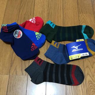 アディダス(adidas)のブランドソックス 6足/adidas MIZUNO 23〜25(ソックス)