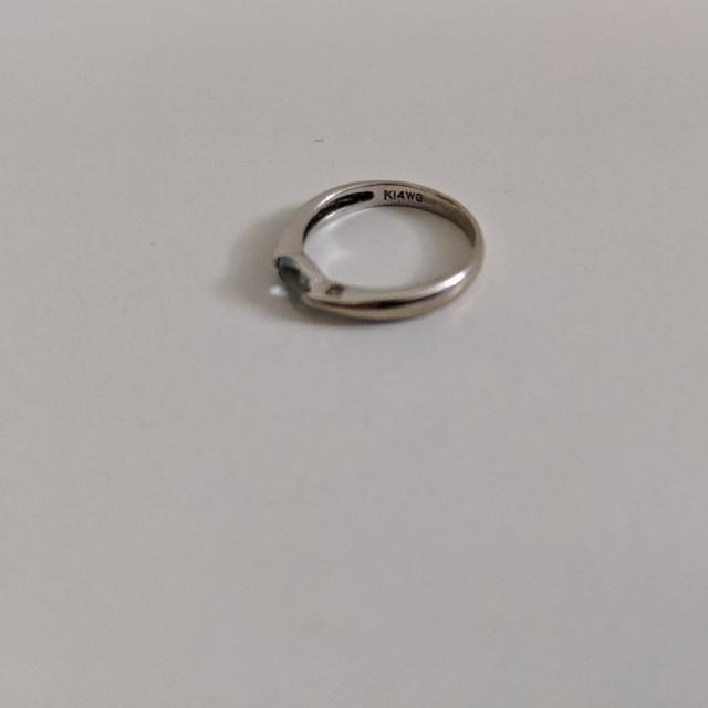 Samantha Tiara(サマンサティアラ)のk14WG アクアマリン ピンキーリング レディースのアクセサリー(リング(指輪))の商品写真