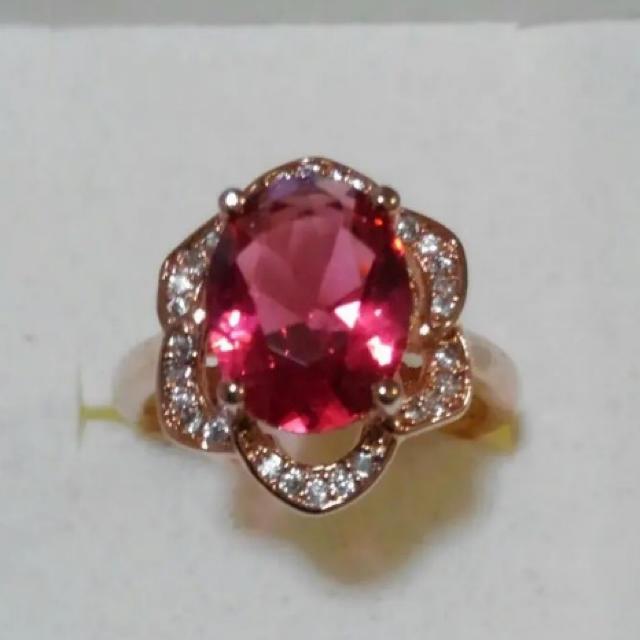 新品未使用 レッドスピネル 指輪 シルバー925 メンズのアクセサリー(リング(指輪))の商品写真