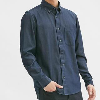 ジーユー(GU)のジーユー メンズ デニムシャツ シャツ(シャツ)