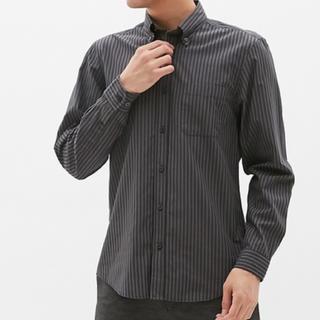 ジーユー(GU)のジーユー メンズ ストライプ シャツ ブロードシャツ(シャツ)