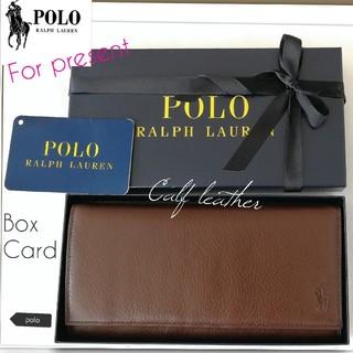 ラルフローレン(Ralph Lauren)の新品 最終セール◼ポロラルフローレン 長財布◼贈り物に最適 国内正規 BOX付き(長財布)