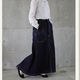 ミナペルホネン(mina perhonen)のそらまめ9号様専用mina perhonen always デニムスカート 34(ロングスカート)