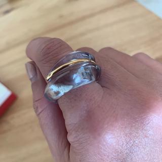 バカラ(Baccarat)のバカラ コキアージュ クリアブルー(リング(指輪))