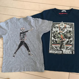 ジーユー(GU)の初代仮面ライダー GU コラボTシャツ 2点セット 120 130 美品&新品(Tシャツ/カットソー)
