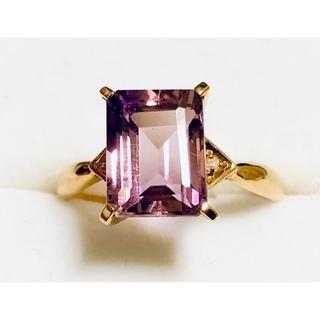 18K 天然石 トルマリン ダイアモンド リング(リング(指輪))
