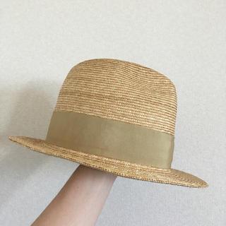 『新品 California store straw HAT 中目黒 リボン』(麦わら帽子/ストローハット)