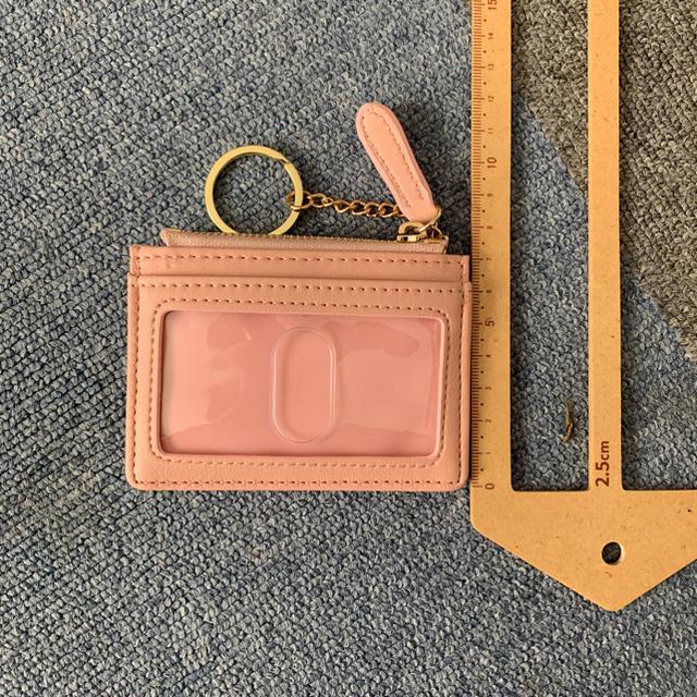 しまむら(シマムラ)のパステルピンクパス&コインケース レディースのファッション小物(名刺入れ/定期入れ)の商品写真