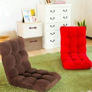 人気☆★もちもちフィット☆ コンパクト座椅子14段階リクライニング
