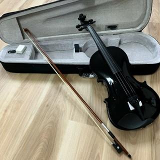 全国送料無料☆木製ヴァイオリン ブラック ゆうパック