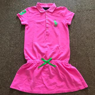 ラルフローレン(Ralph Lauren)のラルフローレン ワンピース ビックポニー ピンク 140センチ(ワンピース)
