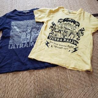 ジーユー(GU)のGUウルトラマンTシャツ110size二枚(Tシャツ/カットソー)