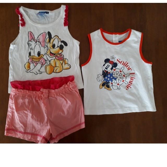 Disney(ディズニー)のディズニー タンクトップ&ショートパンツ 80㎝ キッズ/ベビー/マタニティのベビー服(~85cm)(タンクトップ/キャミソール)の商品写真