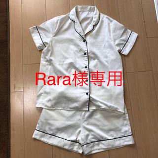 ジーユー(GU)のGU レディースパジャマ 半袖、ショートパンツ(パジャマ)