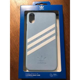 アディダス(adidas)の最終値下 正規新品adidas iPhoneX/XSケース ブルー アディダス(iPhoneケース)