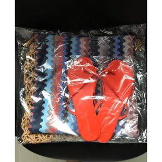 グレースコンチネンタル(GRACE CONTINENTAL)のロープバッグ ビーチサンダルセット グレースコンチネンタル  ダイヤグラム(サンダル)