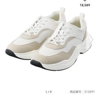 GU - GU ダッドスニーカー 白 XL