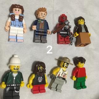 レゴ(Lego)の2 レゴ ミニフィグセット 8体 ミニフィギュア  レゴブロック  (キャラクターグッズ)