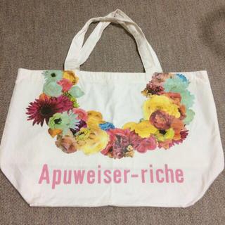 アプワイザーリッシェ(Apuweiser-riche)のアプ♡お花プリントエコバッグ(エコバッグ)