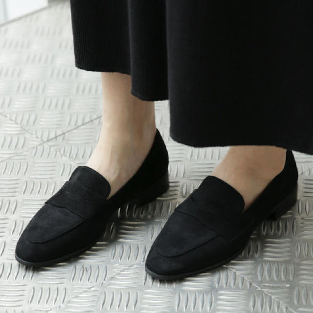 nano・universe(ナノユニバース)のナノユニバース ローファー 黒 23.5cm レディースの靴/シューズ(ローファー/革靴)の商品写真