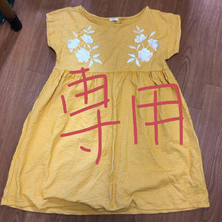 GU - 刺繍ワンピース Sサイズ