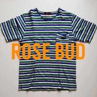ローズバッド(ROSE BUD)の日本製 ボーダーTシャツ ROSE BUD COUPLES(Tシャツ/カットソー(半袖/袖なし))