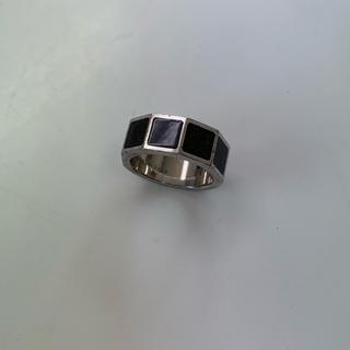 ルイヴィトン(LOUIS VUITTON)のルイ・ヴィトン  リング 指輪 ダミエ 黒 正規品(リング(指輪))