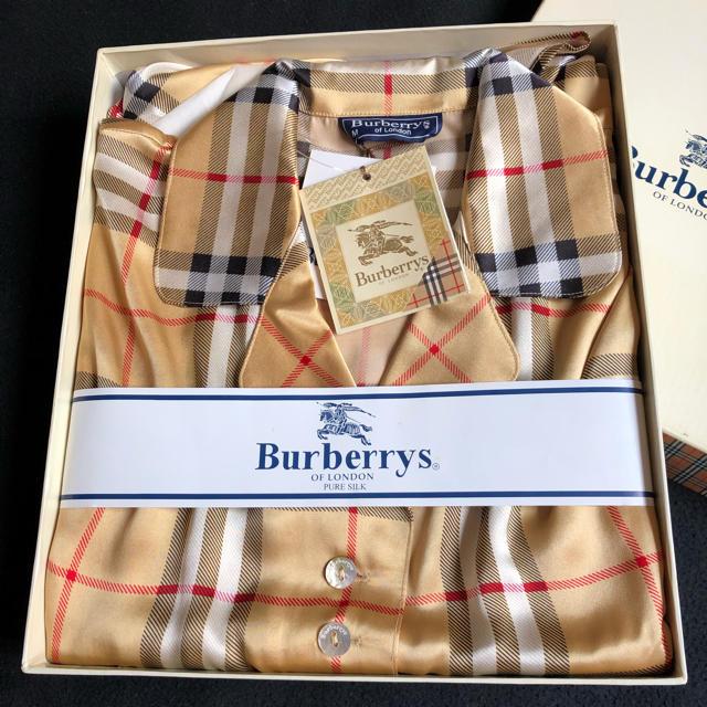 BURBERRY(バーバリー)のバーバリー シルク半袖パジャマ レディースのルームウェア/パジャマ(パジャマ)の商品写真
