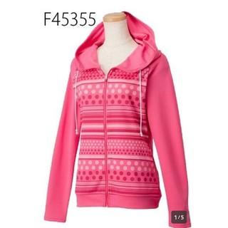 adidas - ¥6372  ジャケット アディダス  *L フーディーTシャツ 長袖 ドット