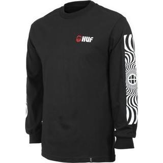 ハフ(HUF)のHUF SPITFIRE SWIRLS ロンT ブラック  XL ハフ(Tシャツ/カットソー(七分/長袖))